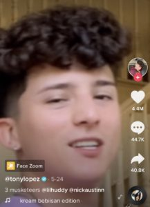 How To Use The Face Zoom Filter On Tiktok Snap Font